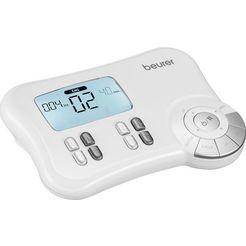 beurer ems-apparaat em 80 digitaal ems-tens-apparaat 3-in-1-apparaat voor pijnbestrijdingstherapie, spierversterking en massage (set) wit
