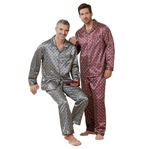 King's Club NU 15% KORTING: KINGS CLUB Pyjama in satijnkwaliteit