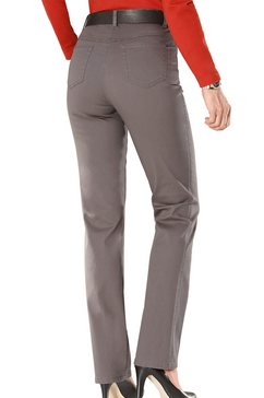 casual looks jeans met rondom elastische band bruin