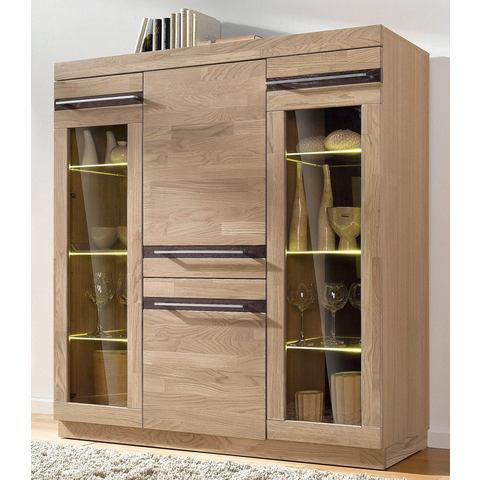 Dressoirs Highboard met glasplateaus 213141
