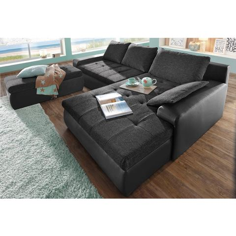 woonkamer extra groot hoekbankstel zwart SIT en MORE Hoekbank naar keuze in XL of XXL 15