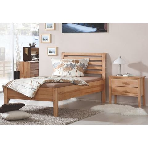 RELITA Bed van massief beuken 90x200 cm beige Relita 597408