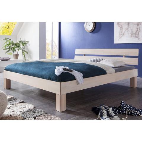 RELITA Bed van massief beuken wit Relita 653265