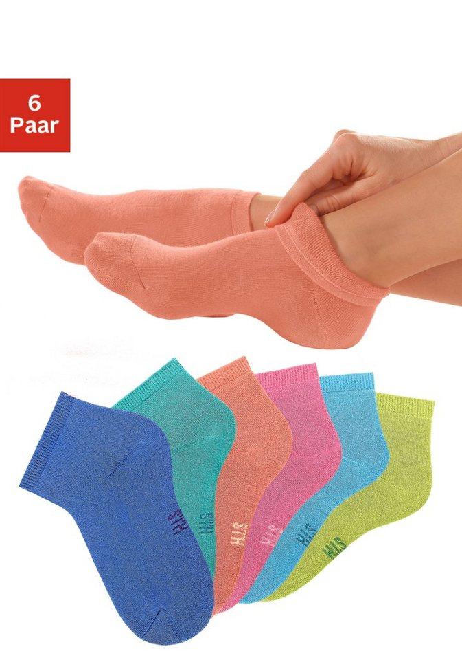 H.I.S Korte sokken in set van 6 paar