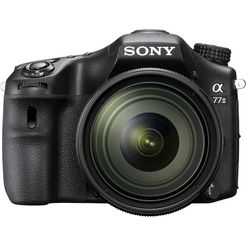sony alpha ilca-77m2 spiegelreflexcamera, sal-1650 zoom, 24,3 megapixel, 7,6 cm (3 inch) display zwart