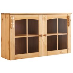 hangende vitrinekast sylt met 2 deuren + glasinzet beige