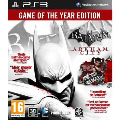 PS3 Game Batman, Arkham City (GOTY Edition)