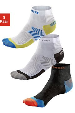 chiemsee korte sokken running in set van 3 paar multicolor