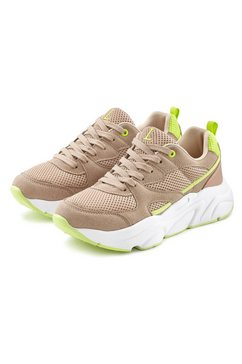 lascana sneakers met lichte chunky-zool en uitneembare binnenzool beige