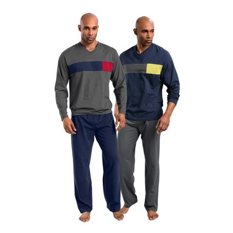 LE JOGGER Pyjama in set van 2 met colourblocking
