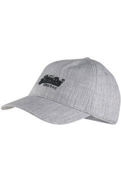 superdry baseballcap met opgestikt superdry logo voor grijs