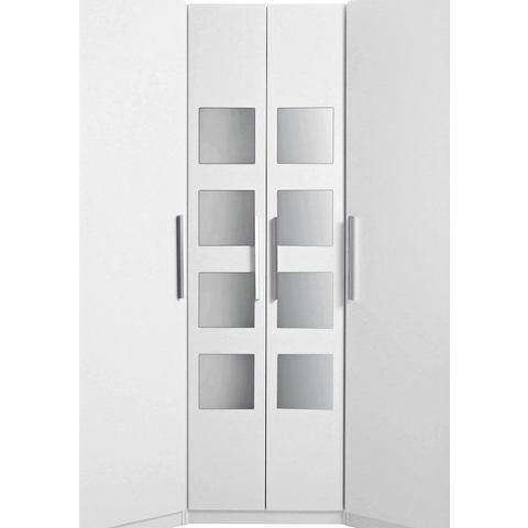 Hoek-garderobekast Saragossa met 8 spiegels