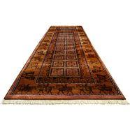 orientaals vloerkleed, oriental weavers, 'gabiro pazyryk' , hoogte ca. 18 mm bruin