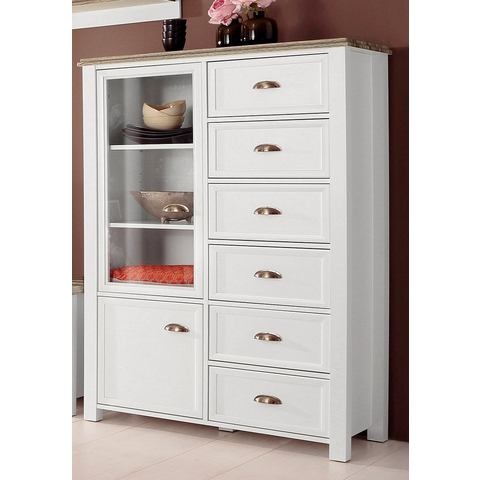 Dressoirs HOME AFFAIRE Highboard Chateau breedte 96 cm 299118