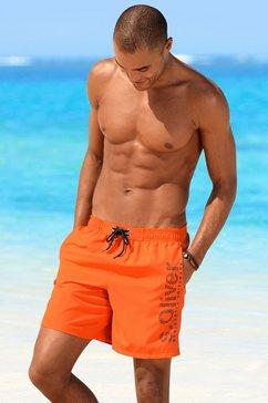 s.oliver zwemshort met binnenslip oranje