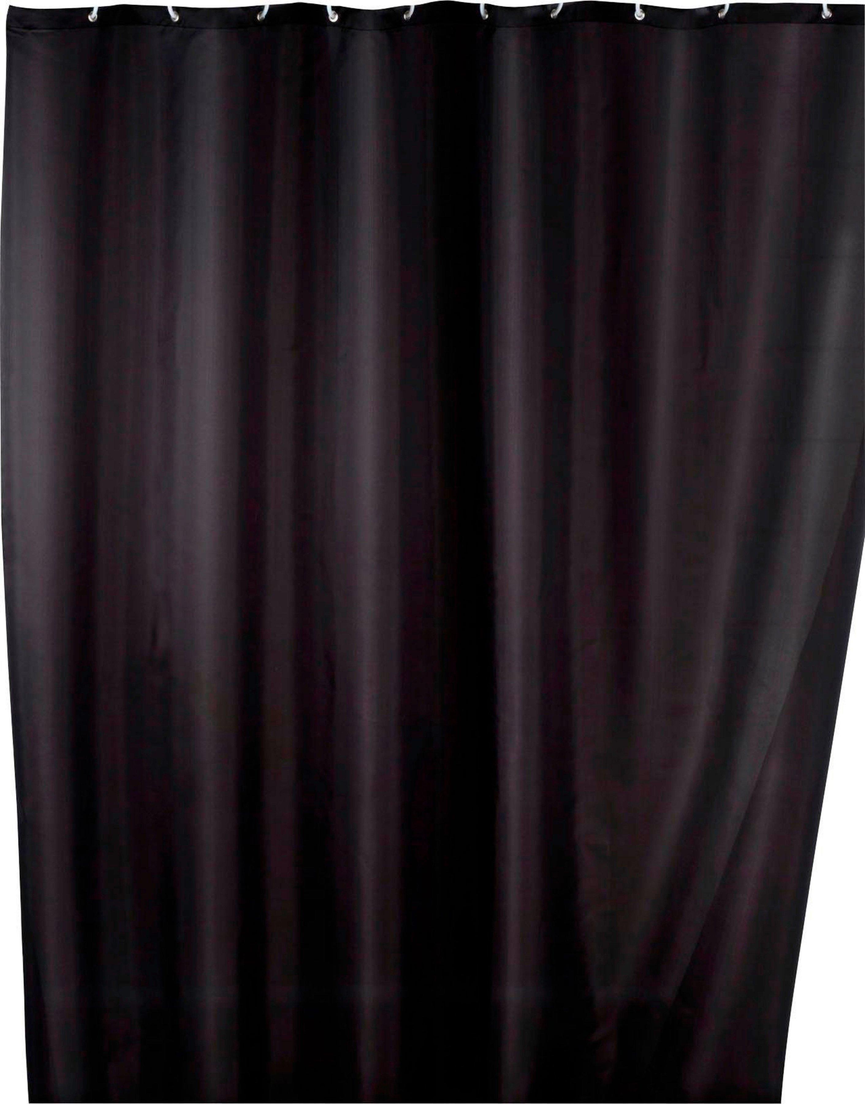 WENKO douchegordijn Uni black Hoogte 200 cm, polyester. Wasbaar online kopen op otto.nl