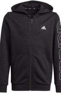 adidas performance sweatvest adidas boys essentials logo full-zip hoodie zwart