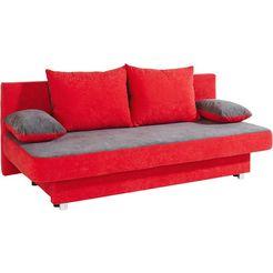 bedbank inclusief bedkist rood