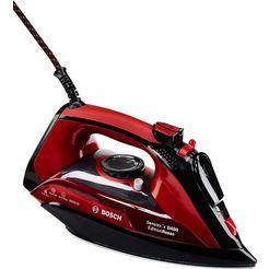 bosch stoomstrijkijzer tda503001p edition rosso licht glijdende ceranium-glissée-strijkzool zwart
