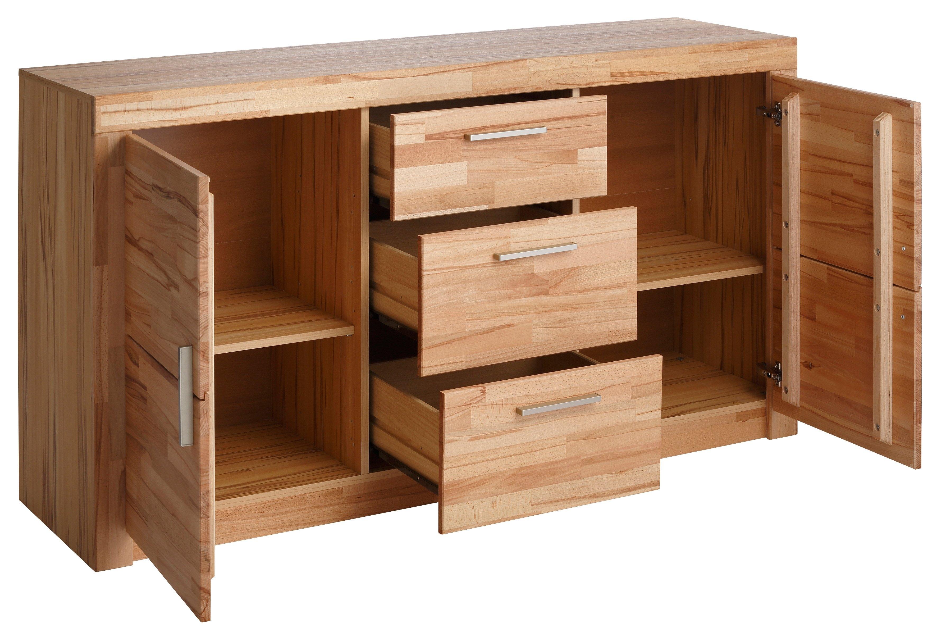 sideboard met front van massief hout online bij otto. Black Bedroom Furniture Sets. Home Design Ideas
