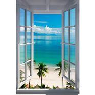 home affaire wanddecoratie strand raam 60-90 cm blauw
