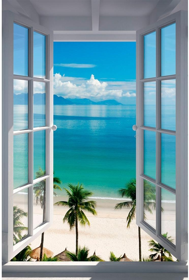 Home affaire wanddecoratie Strand raam 60/90 cm - verschillende betaalmethodes