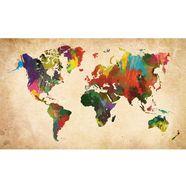 home affaire artprint »gekleurde wereldkaart«, 118x70 cm multicolor