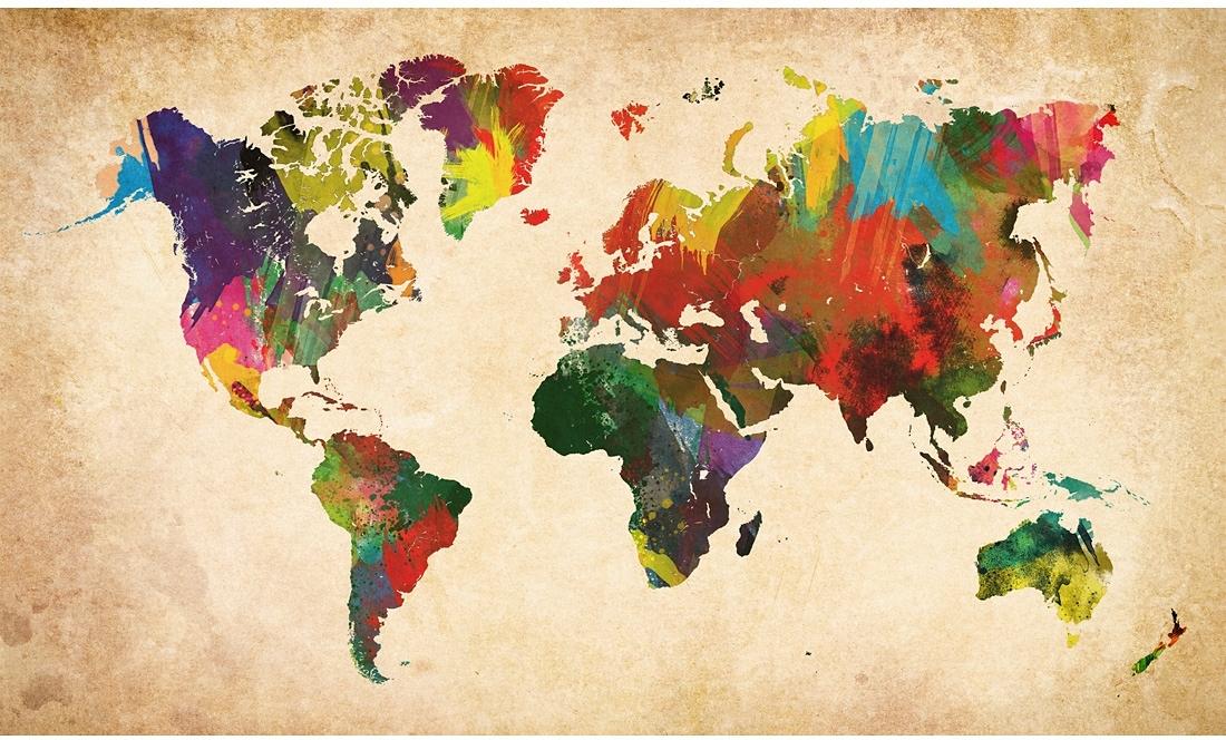 Home affaire artprint gekleurde wereldkaart 118x70 cm bestel nu afbeeldingsbron home affaire artprint gekleurde wereldkaart 118x70 cm thecheapjerseys Images