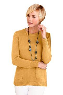 trui met opgestikte zakken geel