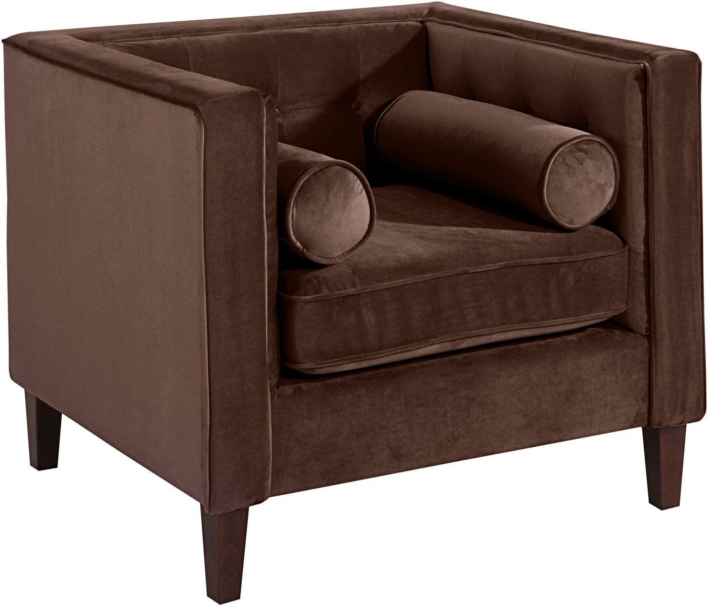 MAX WINZER® fauteuil Joko, met houten poten