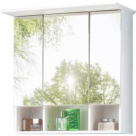 kast Vili met 3 open vakken witte badkamer spiegelkast 4