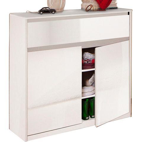 Kasten  vitrinekasten CS SCHMAL Kast Smart met 2 deuren en 1 lade 379274