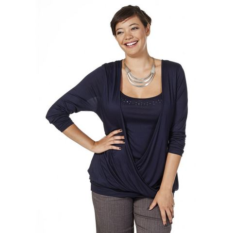 SHEEGO CLASSIC 2-in-1-shirt met glinstersteentjes