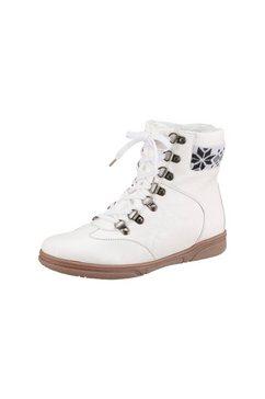city walk hoge schoenen met vetersluiting wit