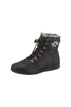 city walk hoge schoenen met vetersluiting zwart