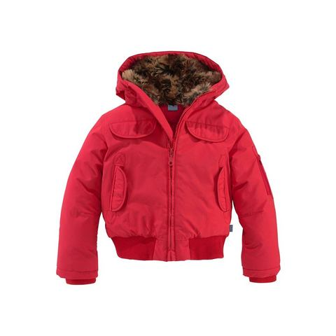 ARIZONA Meisjes-jas met gevoerde capuchon