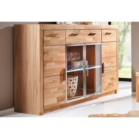 Dressoirs Highboard met front van massief hout 534710