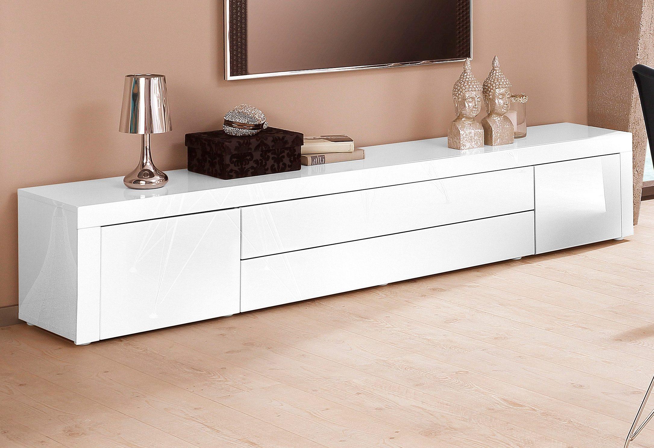 Tv hifi meubel model spring wit grijs