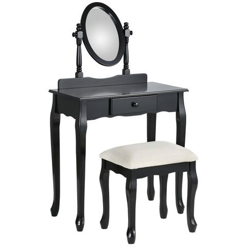 Nachtkastjes  commodes HOME AFFAIRE Make-uptafel met hocker 111154
