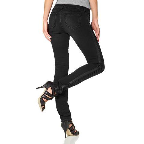 LAURA SCOTT Skinny-jeans met inzetten
