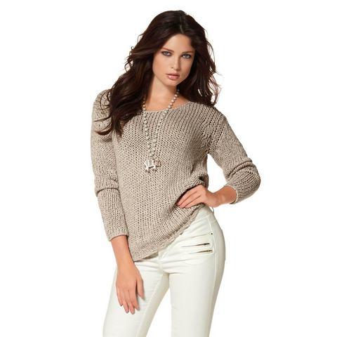 LAURA SCOTT Gebreide trui van lintgaren