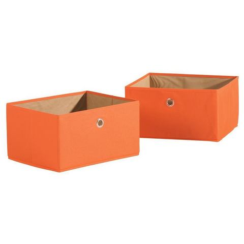 ROBA Opbergmand Canvas in set van 2 oranje