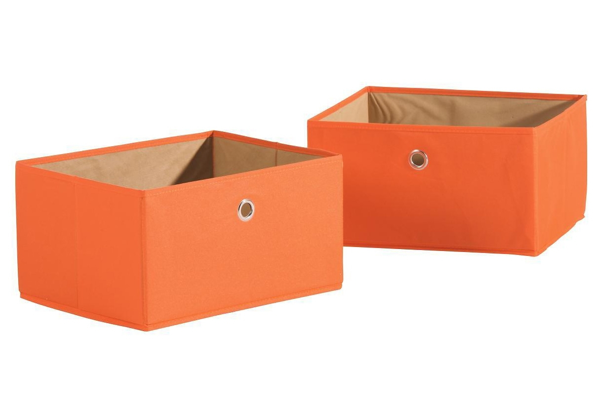 Roba Opbergmand Canvas in set van 2 oranje online kopen op otto.nl