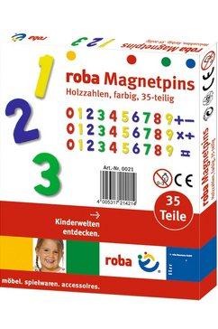 roba houten magneetgetallen 35-delige set multicolor