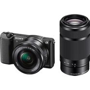 sony alpha ilce-5100y set systeemcamera, incl. 2 sel objectieve (16-50mm  55-210mm), 24,3 megapixel zwart