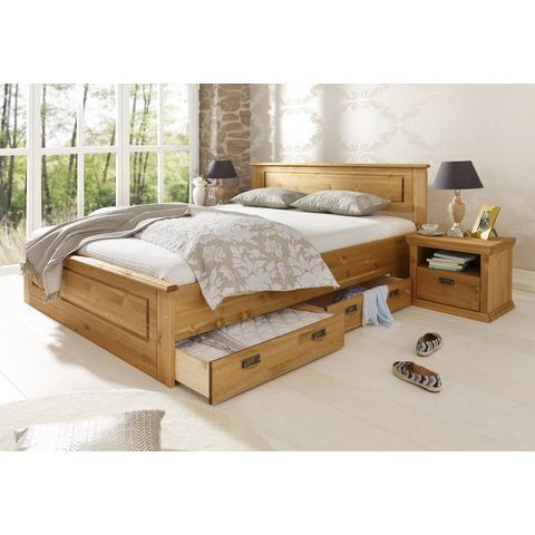 HOME AFFAIRE Bed Madrid geloogd/geolied beige Home Affaire 342522