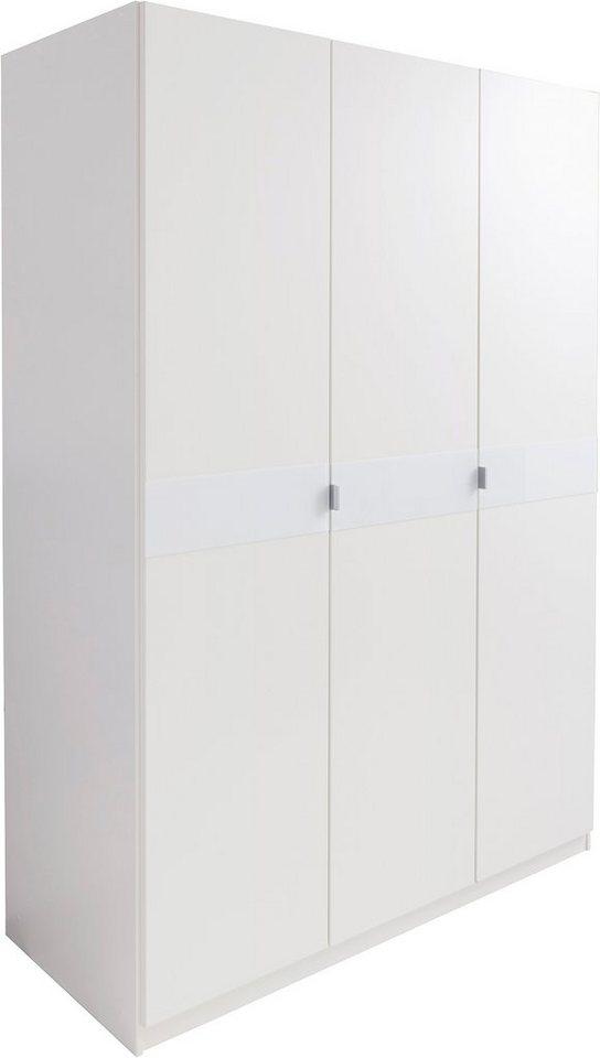 Garderobekast met glas-inlays