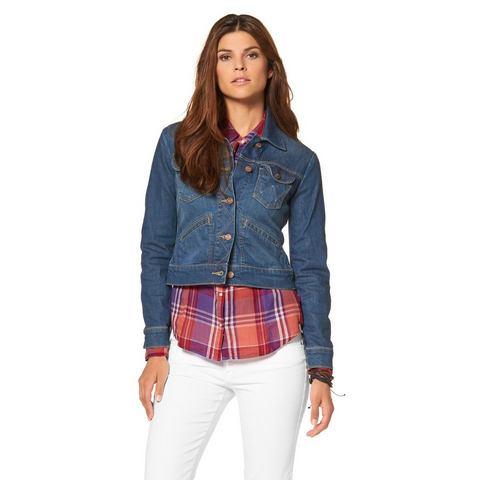 WRANGLER Jeans-jack in elastische denimkwaliteit