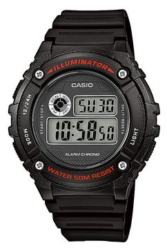 casio collection chronograaf »w-216h-1avef« zwart