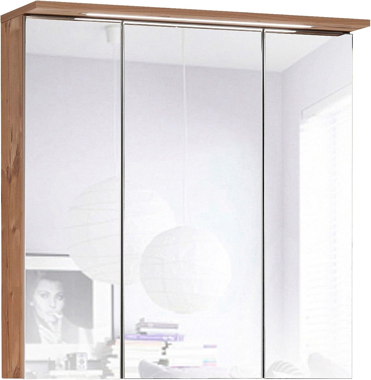 Schildmeyer Spiegelkast Profiel Breedte 70 cm, 3-deurs, verzonken ledverlichting, schakelaar-/stekkerdoos, glasplateaus, Made in Germany nu online kopen bij OTTO
